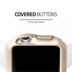 Spigen Sgp Apple Watch Kılıf Slim Armor (38mm) Champagne Gold-2