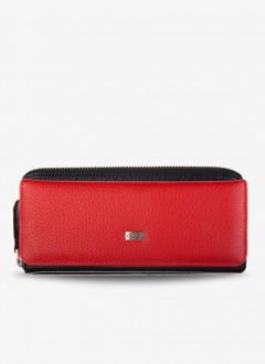 Deri Bayan Cüzdanı / 1263 - Siyah ve Kırmızı
