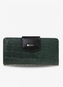 Timsah Baskılı Deri Bayan Cüzdanı / 2214 - Yeşil
