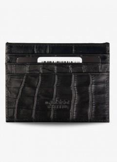 Timsah Baskılı Deri Kartlık / 1092 - Siyah