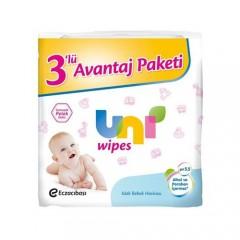 Uni Baby Wipes 72'li Islak Havlu Mendil - 3'lü Paket