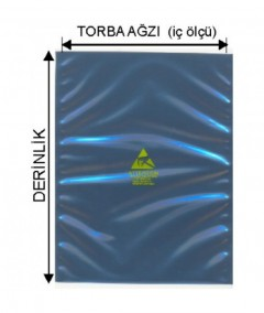 Kilitsiz antistatik / esd poşet / torba 11 X 15 cm (100 lük )