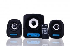 2+1 Hoparlör Ses Sistemi Powerstar Usb ve Hafıza Kartı Girişli FM Radyolu