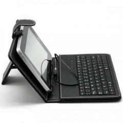 7.Türkçe Klavyeli Deri Tablet Kılıfı