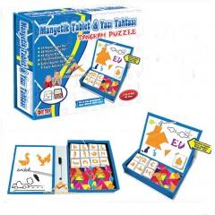 96 Parça Manyetik Tablet Tangram ve Yazı Tahtası