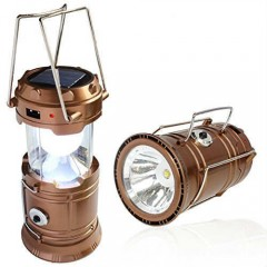Avcı Feneri Kamp Lambası Şarjlı USB Girişi Solar