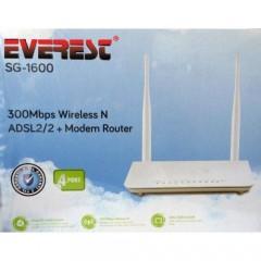 Everest Sg-1600 4Port 300Mbps Adsl Kablosuz Modem 2X5DBI Anten - Kolay Kurulum