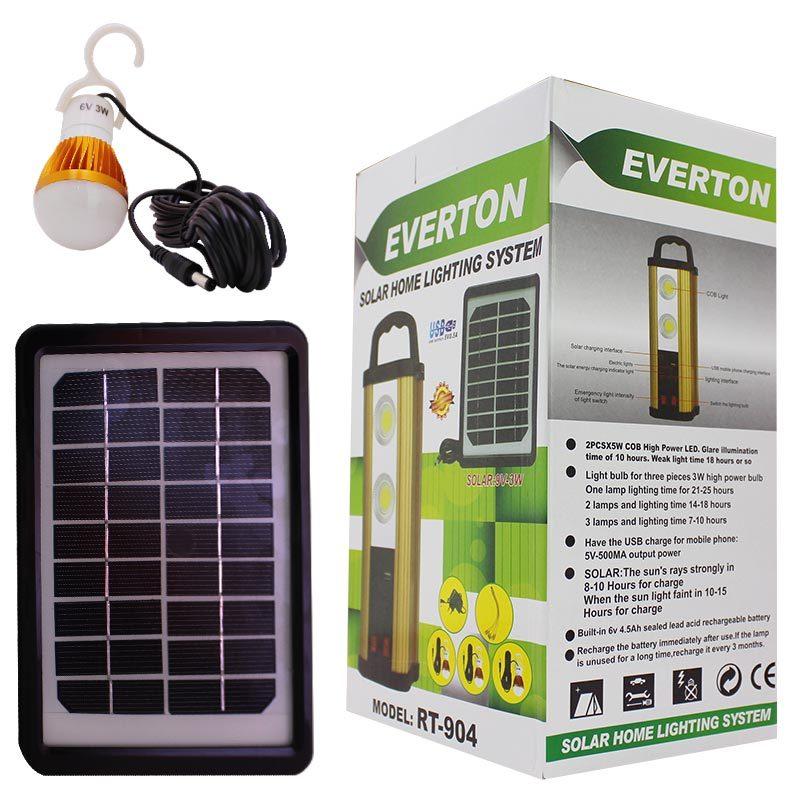 Everton Rt-904 Usb Girişli Solar Işıldak Aydınlatma Seti ile ilgili görsel sonucu