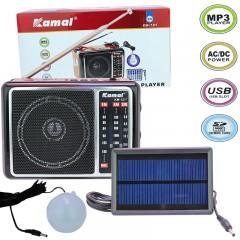 Kamal KM-121 Mp3 Çalar Solarlı Radyo