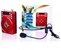 Kingboss Mikrofon Girişli Portatif Anfi Müzik Çalar ve Radyo