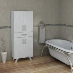 Pegai Nora 4 Kapak 1 Çekmece Banyo Dolabı Beyaz 03-0