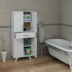 Pegai Nora 4 Kapak 1 Çekmece Banyo Dolabı Beyaz 03-1