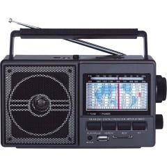 Şarjlı SD Kart USB Analog FM Radyolu Portatif Müzik Çalar
