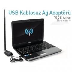 Kablosuz Ağ Adaptörü 300 Mbps 10 DBI Anten