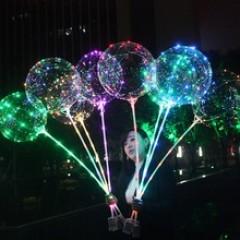 Led Işıklı Uçan Şeffaf Balon