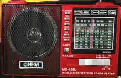 Mega Mg-950U Rec Usb Ve Kart Girişli Manuel El Radyosu