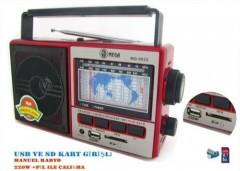 Mega MG-992 Usb Ve Kart Girişli Manuel El Radyosu
