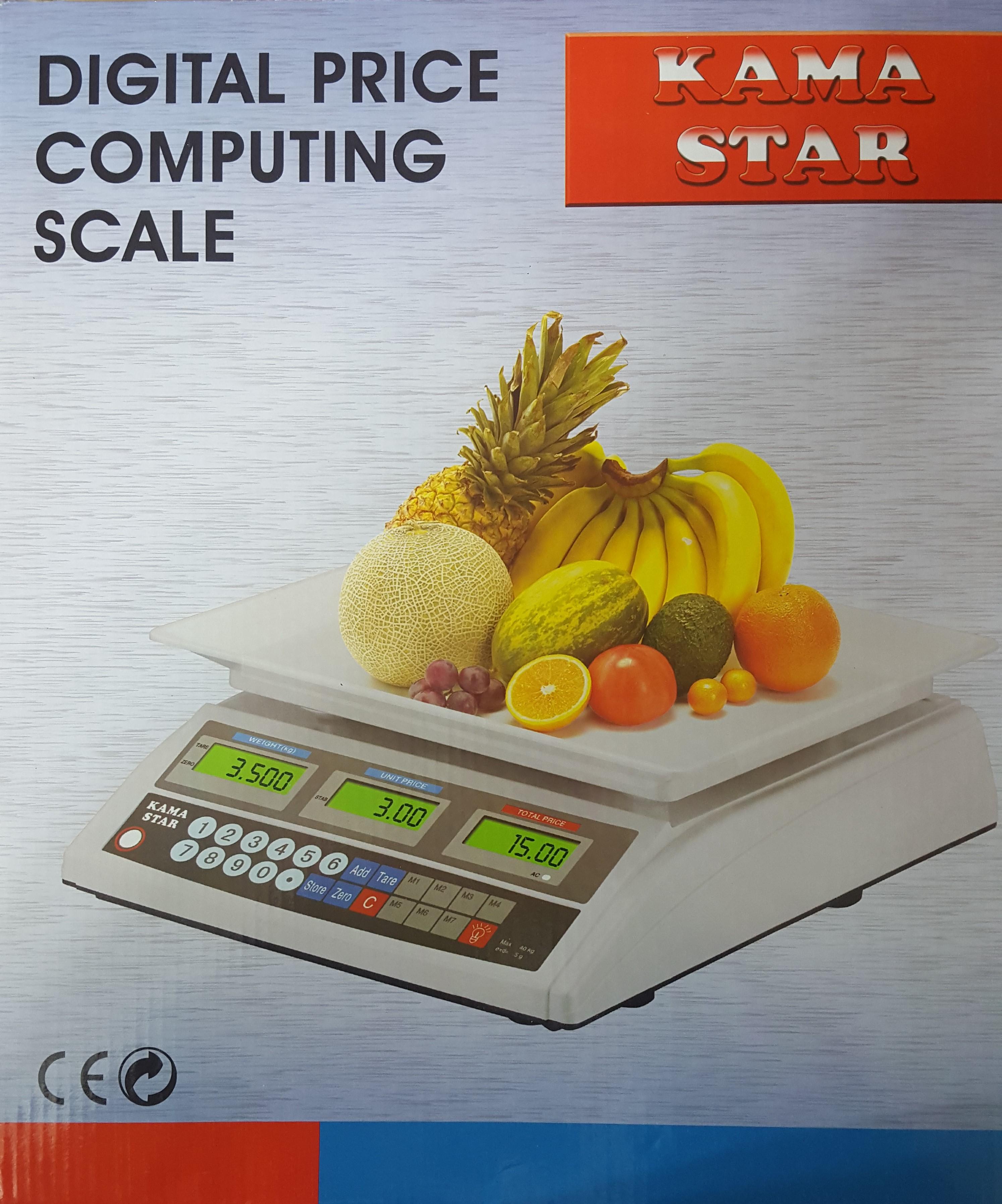 Pazarci Terazisi Elektronik Fiyat Hesaplamalı 40 Kg