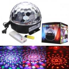 SD Kart ve USB Girişli LED Işıklı Kristal Küre
