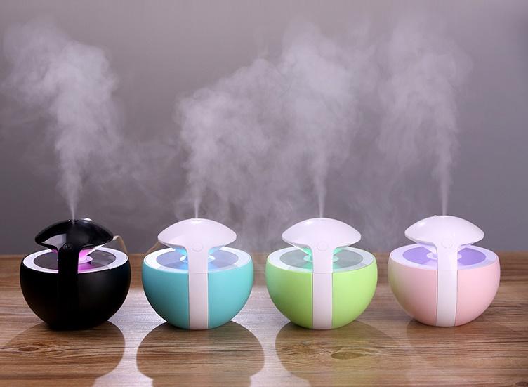 USB Çıkışlı Renk Değiştiren Oda Nemlendirici Buhar Makinesi