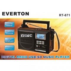 Usb ve Hafıza Kart Okuyuculu Mp3 Radyo Everton RT-871