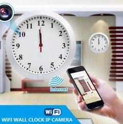 Wifi Duvar Saat Kamera Sınırsız Çekim İzleme