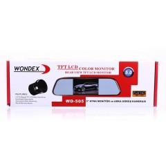 Wondex WD-505 Dikiz Aynası Monitörü + Geri Vites Kamerası 5 inç Ekranlı Ayna