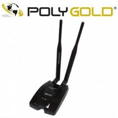 Yüksek Güçlü 300 Mbps Usb Kablosuz Adaptör 2 Antenli Polygold