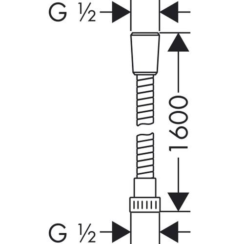 Hansgrohe Metaflex Spiral Duş Hortumu