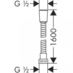 Hansgrohe Metaflex Spiral Duş Hortumu-1