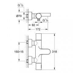 Grohe Grohtherm 3000 Cosmopolitan Termostatik Banyo Bataryası-1