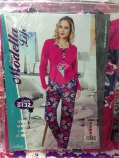 36/1 Modal Full Lyc Uzun Kol Bayan Pijama Takım