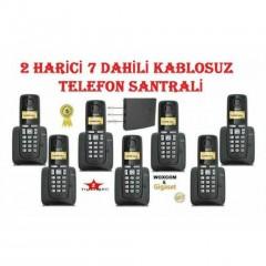 Woxcom & Gigaset 2 Harici 7 Dahili Kablosuz Dect Telefon Santrali