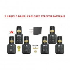 Woxcom & Gigaset 2 Harici 6 Dahili Kablosuz Dect Telefon Santrali