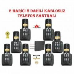Woxcom & Gigaset 2 Harici 8 Dahili Kablosuz Dect Telefon Santrali