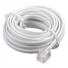 Telefon Hat Kablosu 10 Metre 6P4C Pluglu Beyaz