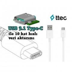 Ttec Type C USB Cep Telefonu Şarj Kablosu 2DK12B-1
